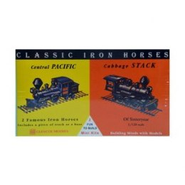 Model plastikowy - Lokomotywy Classic Iron Horses - Central Pacific / Cabbage Stack - Glencoe Models (2szt)