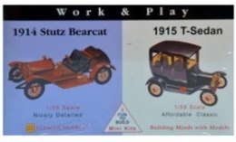 Model plastikowy - Samochody Work & Play - 1915 Ford T-Sedan / 1914 Stutz Bearcat - Glencoe Models